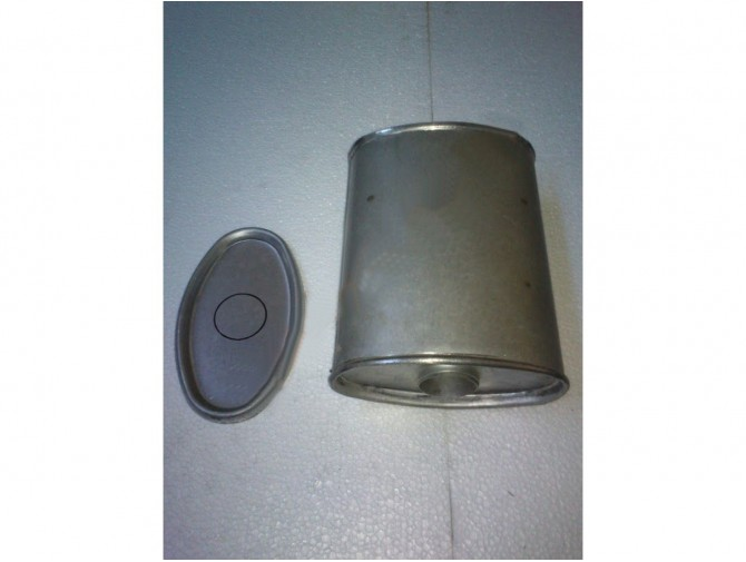 Глушитель универсальный плоский D.802/50 (Длинна 300мм, ширина 200мм, высота 100мм диаметр входа 50мм)