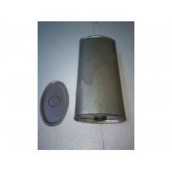 Глушитель универсальный плоский D.824/50 (Длинна 400мм, ширина 170мм, высота 100мм диаметр входа 50мм)