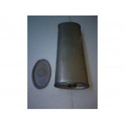 Глушитель универсальный плоский D.825/55 (Длинна 450мм, ширина 170мм, высота 100мм диаметр входа 55мм)