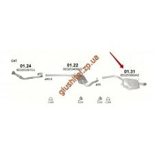 Глушитель Ауди А4 (Audi A4) 1.6 /2000 - 5/2003 (01.31) Polmostrow алюминизированный