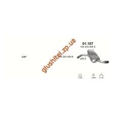 Глушитель Ауди А3 (Audi A3) 1.6 03-08 (01.107) Polmostrow алюминизированный