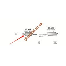 Резонатор BMW 3 E46 1.9 98-02 (03.123) Polmostrow алюминизированный
