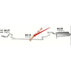Труба средняя Пежо 5008 (PEUGEOT 5008) 1.6 HDi 09 -  (04.14) Polmostrow алюминизированный