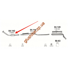 Труба приемная без катализатора CITROEN BERLINGO, PEUGEOT PARTNER/306 2.0HDi 99-02 (04.143) Polmostrow алюминизированный