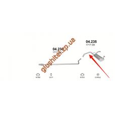 Глушитель Citroen C1/Pegueot 107/Toyota Aygo 1.4 HDI TD 05- (04.235) Polmostrow алюминизированный