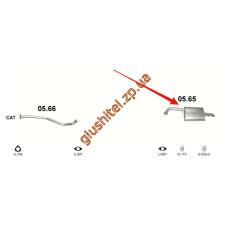 Глушитель ДЭУ Нубира (Daewoo Nubira) 2.0CDTi  (05.65) 05- Польша Polmostrow алюминизированный