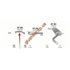 Приемная труба с гофрой Ситроен Джампер (Citroen Jumper) / Фиат Дукато (Fiat Ducato) / Пежо Боксер (Peugeot Boxer) 3.0D 06- (07.85) Polmostrow алюминизированный
