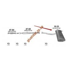 Глушитель Киа Спортейдж / Хюндай ix35 (KIA SPORTAGE / HYUNDAI ix35) 2,0 6/2010 - 1/2014 (10.23) Polmostrow алюминизированный