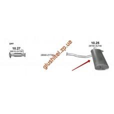 Глушитель Киа Спортейдж (KIA SPORTAGE) / Хюндай ix35 (HYUNDAI ix35) 1.7D 10-14 (10.25) Polmostrow алюминизированный