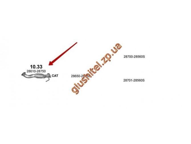 Трубка коллекторная Хюндай Санта Фе (Hyundai Santa Fe), 9/2006 - 12/2011, 2.2 D (10.33) Polmostrow алюминизированный