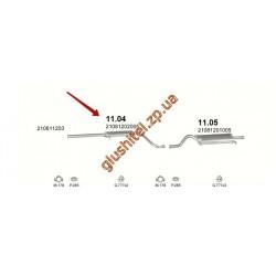 Резонатор ВАЗ 2108 (11.04) закатной Польша Polmostrow алюминизированный