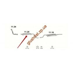 Резонатор ВАЗ 2110 (11.25) евро III Польша Polmostrow алюминизированный