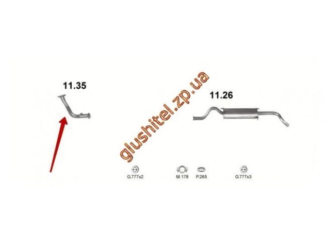 Труба приемная (11.35) ВАЗ 2110 1.5 16 кл. Черновцы (Sks)