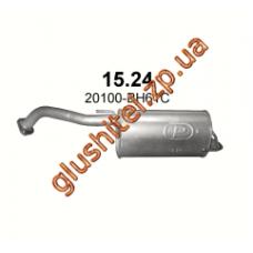 Глушитель Ниссан Ноут (Nissan Note) 1.6 09 - (15.24) Polmostrow алюминизированный