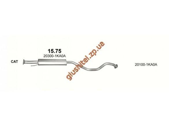 Резонатор Ниссан (Nissan) Juke 1.6; /2010 - 0/0 (15.75) Polmostrow алюминизированный