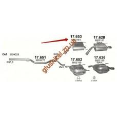 Глушитель Опель Вектра (Opel Vectra) C 2.0 /2003 - 0/0 (17.653) Polmostrow алюминизированный