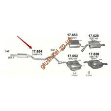Резонатор Опель Вектра (Opel Vectra) C 3.2 HATCHBACK, SEDAN/2002 - 0/0 (17.654) Polmostrow алюминизированный
