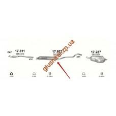 Резонатор Опель Зафира (Opel Zafira) 1.6i-16V/1.8i-16V/2.2i kat 03-10 (17.623) Polmostrow алюминизированный