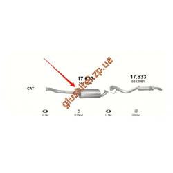 Резонатор Опель Фронтера Б (Opel Frontera В) 2.2D 98-02 (17.632) Polmostrow алюминизированный