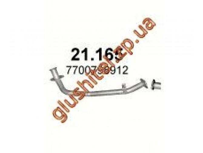 Труба приемная Рено (Renault) 21 2.1 TD 04/86-06/94 (21.165) Polmostrow алюминизированный