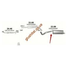 Глушитель Сеат Ибица (Seat Ibiza) / Шкода Фабия (Skoda Fabia) / Фольксваген Поло (VW Polo) 1.6i 16V 06-09 (23.89) Polmostrow алюминизированный
