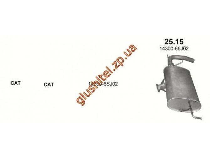 Глушитель Сузуки Гранд Витара (Suzuki Grand Vitara) 2.0i 16V 10/05-06/08 4X4 5d (25.15) Polmostrow алюминизированный