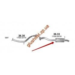 Глушитель TOYOTA AURIS 2.0 D (Diesel) HATCHBACK 10/2006  (26.33)  Polmostrow