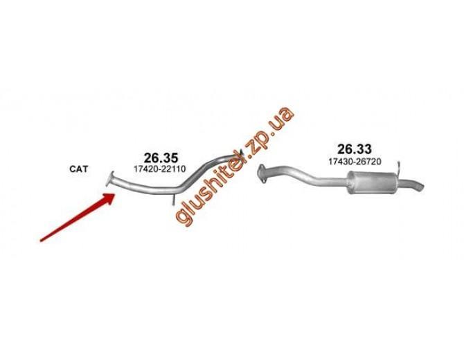 Труба промежуточная Тойота Аурис (TOYOTA AURIS) 2.0 D 2006 (26.35)  Polmostrow