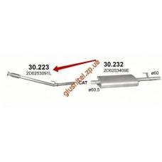 Приемная труба с гофрой Фольксваген ЛТ (Volkswagen LT) LT 2.8TDi (30.223) Polmostrow алюминизированный