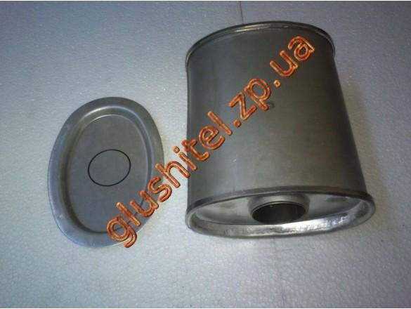 Резонатор универсальный плоский D.301/45 (Длинна 250мм, ширина 170мм, высота 100мм, диаметр входа 45мм)