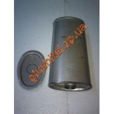 Резонатор универсальный плоский D.304/60 (Длинна 400мм, ширина 170мм, высота 100мм, диаметр входа 60мм)