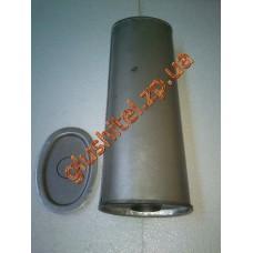 Резонатор универсальный плоский D.306/45 (Длинна 500мм, ширина 170мм, высота 100мм, диаметр входа 45мм)