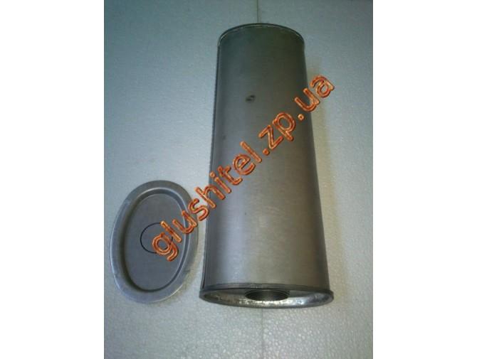 Резонатор универсальный плоский D.306/60 (Длинна 500мм, ширина 170мм, высота 100мм, диаметр входа 60мм)