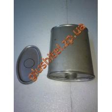Глушитель универсальный плоский D.802/45 (Длинна 300мм, ширина 200мм, высота 100мм диаметр входа 45мм)