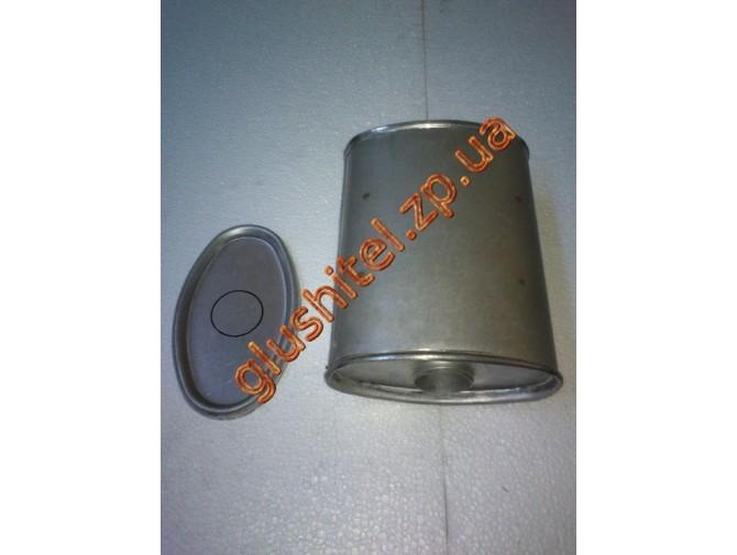 Глушитель универсальный плоский D.823/50 (Длинна 350мм, ширина 170мм, высота 100мм диаметр входа 50мм)