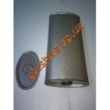 Глушитель универсальный плоский D.805/50 (Длинна 450мм, ширина 200мм, высота 100мм диаметр входа 50мм)