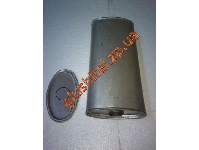 Глушитель универсальный плоский D.805/55 (Длинна 450мм, ширина 200мм, высота 100мм диаметр входа 55мм)