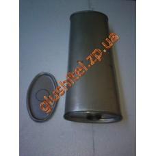 Резонатор универсальный плоский D.316/50/1 2*1 (Длинна 500мм, ширина 200мм, высота 100мм, диаметр входа 50мм)