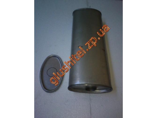 Глушитель универсальный плоский D.825/50 (Длинна 450мм, ширина 170мм, высота 100мм диаметр входа 50мм)