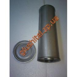 Резонатор универсальный круглый D.323/50 (Длинна 350мм, диаметр корпуса 130мм, диаметр входа 50мм)