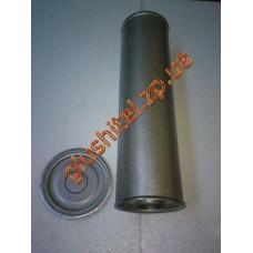 Резонатор универсальный круглый D.325/60 (Длинна 450мм, диаметр корпуса 130мм, диаметр входа 60мм)
