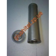 Резонатор универсальный круглый D.334/60 (Длинна 400мм, диаметр корпуса 100мм, диаметр входа 60мм)