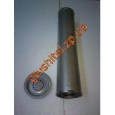 Резонатор универсальный круглый D.336/50 (Длинна 500мм, диаметр корпуса 100мм, диаметр входа 50мм)