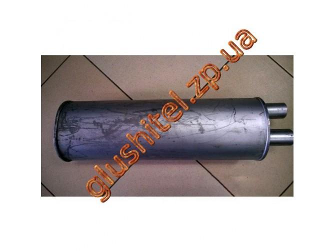 Ремонтный (универсальный) глушитель плоский (длина 600мм, ширина 190мм, высота 170мм) труба D50 Черновцы SKS