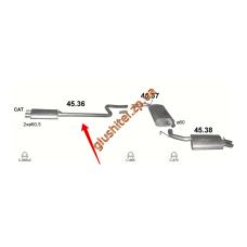 Резонатор Крайслер 300М (Chrysler 300М) 3.5 98-04 Польша (45.36) Polmostrow алюминизированный
