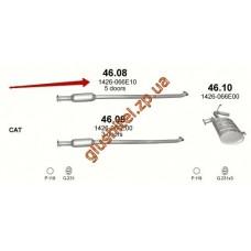 Резонатор Субару Джасти (Subaru Justy) 1.3 96-04/1.3i 01-01 (46.08) Polmostrow алюминизированный