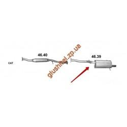 Глушитель Субару Импреза 1.5 06- (Subaru Impreza 1.5 06-) (46.39) Polmostrow алюминизированный