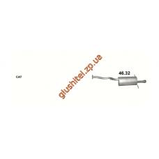 Глушитель Субару Легаси (Subaru Legacy) 2.5 AWD 98-00 (46.32) Polmostrow алюминизированный