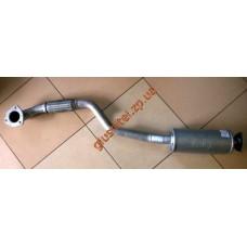 Труба приемная Шевроле Лачетти (Chevrolet Lacetti) (1.6) с резонатором и гофрой алюминизированная Черновцы (Sks)
