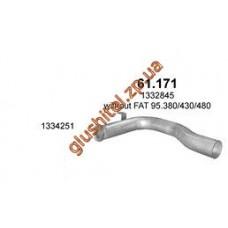 Труба промежуточная (соеденительная) DAF (ДАФ)  XF 95 (61.171) Polmostrow алюминизированный